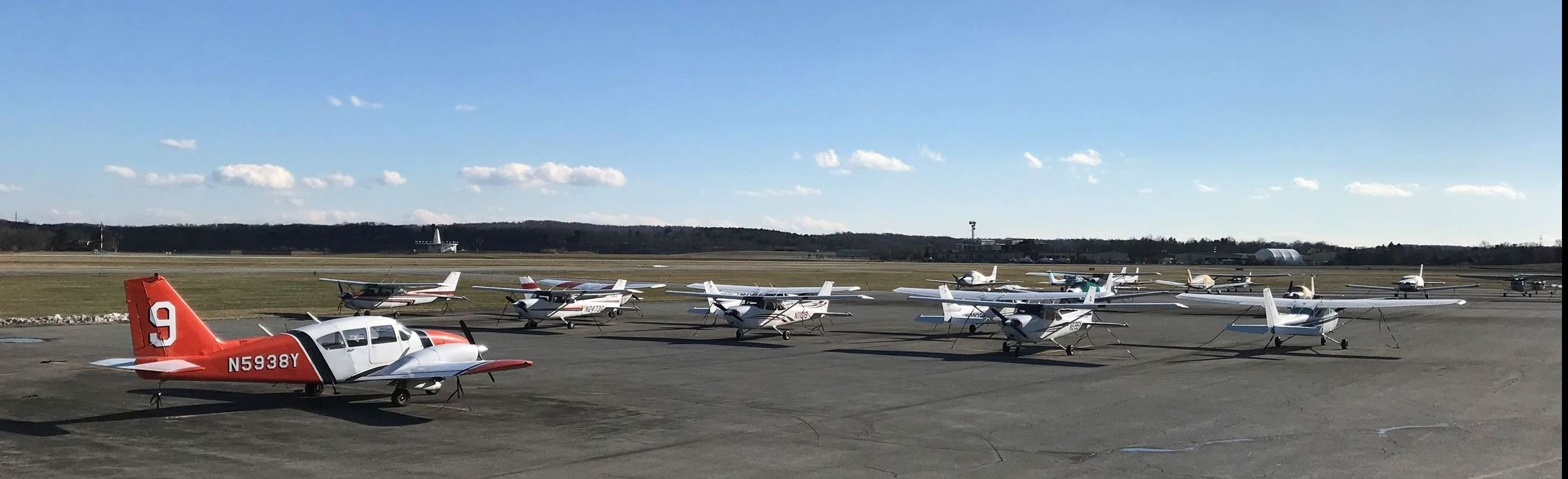 Small Airplanes on the Runway